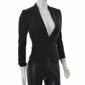 Guess Slim Fit Black Blazer